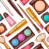 Seamless decorative cosmetics - 1 Stock Photo