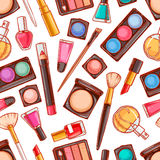 Seamless decorative cosmetics - 4 Royalty Free Stock Images
