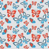 Seamless decorative cute pattern with multicolored butterflies. Seamless decorative cute pattern with a multicolored butterflies Stock Photography