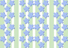 Seamless decorative flax flower bluish pattern Royalty Free Stock Photography
