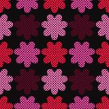 Seamless decorative floral background. Polka dot texture. Textile rapport Royalty Free Stock Image