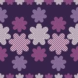 Seamless decorative floral background. Polka dot texture. Textile rapport Stock Images