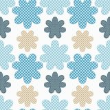 Seamless decorative floral background. Polka dot texture. Textile rapport Stock Photography