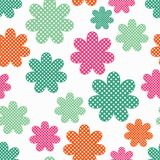 Seamless decorative floral background. Polka dot texture. Textile rapport Royalty Free Stock Images