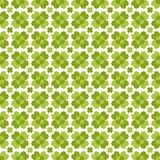 Seamless decorative floral pattern with clover, sh Royalty Free Stock Photography