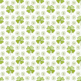 Seamless decorative floral pattern with clover, sh Stock Image
