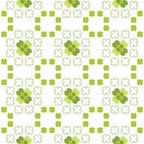 Seamless decorative floral pattern with clover, sh Royalty Free Stock Images
