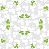 Seamless decorative floral pattern with clover, sh Stock Photos