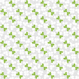 Seamless decorative floral pattern with clover, sh Stock Images
