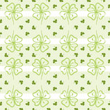 Seamless decorative floral pattern with clover, sh Royalty Free Stock Photos