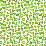 Seamless decorative floral pattern with clover, sh Royalty Free Stock Image
