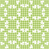 Seamless decorative floral pattern with clover Stock Photo