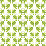 Seamless decorative floral pattern with clover Royalty Free Stock Image