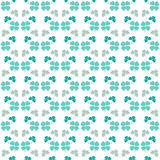 Seamless decorative floral pattern with clover Royalty Free Stock Images