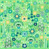 Seamless decorative floral  pattern Royalty Free Stock Photo