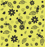 Seamless decorative floral pattern Stock Image