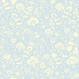 Seamless decorative floral pattern Stock Photos