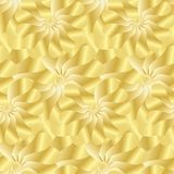 Seamless decorative floral pattern gold flowers abstract. Fabric texture Wallpaper festive background stock illustration