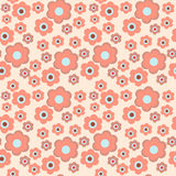 Seamless decorative floral pattern on a pink background. Seamless decorative floral pattern on  pink background Stock Images