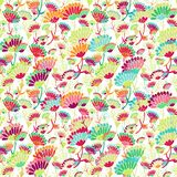 Seamless decorative floral pattern Stock Photography