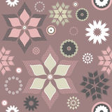 Seamless decorative floral pattern with stylish elements Royalty Free Stock Image