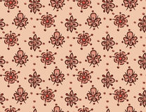 Seamless decorative floral template pattern Royalty Free Stock Photo