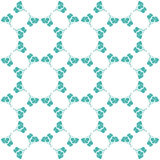 Seamless decorative flower pattern Royalty Free Stock Photography