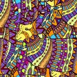 Seamless decorative goat pattern  background Royalty Free Stock Photography