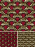 Seamless decorative golden pattern Royalty Free Stock Photos
