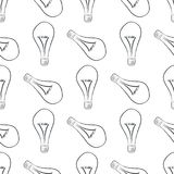 Seamless decorative hand drawn light bulb illustrations. Surface, energy, concept & idea. Seamless decorative hand drawn light bulb illustrations. Good for royalty free illustration