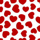 Seamless decorative hearts Stock Photo