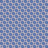 Seamless decorative mosaic pattern in blue Stock Image