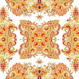 Seamless decorative paisley pattern Royalty Free Stock Images