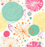 Seamless decorative pattern with abstract details Stock Photography