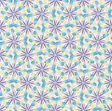 Seamless decorative pattern in arabic style with snowflakes Stock Photos