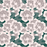 Seamless decorative pattern with flowers Royalty Free Stock Photo