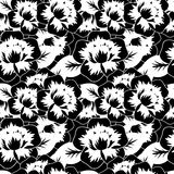 Seamless decorative pattern with flowers Stock Photo