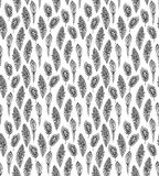 Seamless decorative pattern with graphic peacock feathers Royalty Free Stock Image