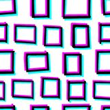Seamless decorative pattern with hand drawn geometry shapes. 3d stereoscopic effect. Seamless decorative pattern with hand drawn geometry shapes. Simple Stock Image