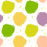 Seamless decorative pattern with ink draw circles Stock Photography