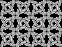 Seamless decorative pattern of intersected fiber. Vector Illustration stock illustration