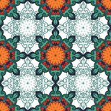 Seamless decorative pattern. Ornament with mosaic elements Royalty Free Stock Images
