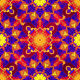 Seamless decorative pattern. Ornament with mosaic elements Royalty Free Stock Image