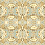 Seamless abscract pattern in portugal azulejos style Stock Images