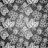 Seamless Decorative Pattern with Strawberry Stock Image