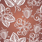 Seamless Decorative Pattern with Strawberry Royalty Free Stock Images