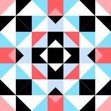 Seamless decorative pattern with triangular elements Royalty Free Stock Photo