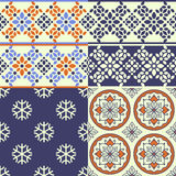 Seamless decorative patterns Stock Photos