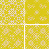 Seamless decorative patterns Royalty Free Stock Images