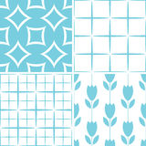Seamless decorative patterns Royalty Free Stock Photo